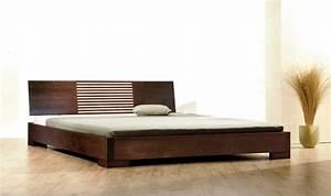 Lit Bois Massif Design : lit en bois massif design zenno bas weng ~ Teatrodelosmanantiales.com Idées de Décoration