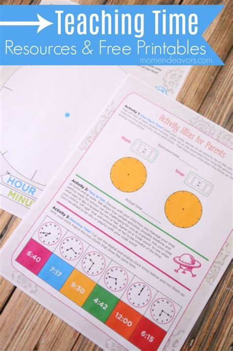 teaching time free resources printables