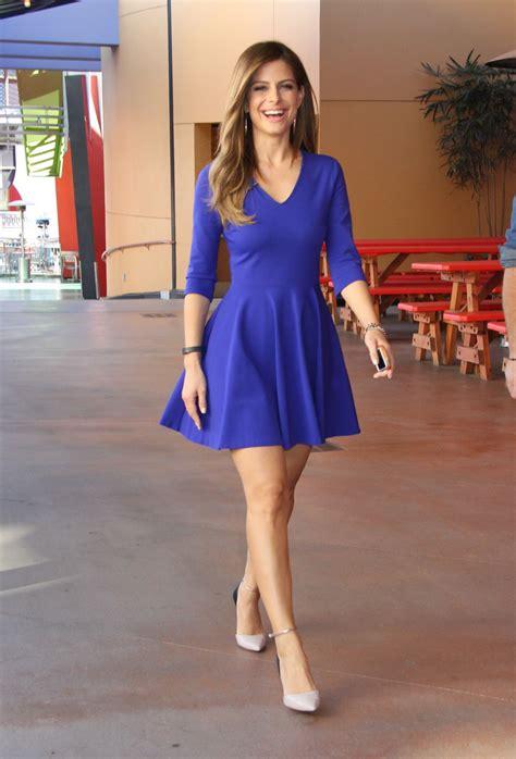 Maria Menounos Shows Legs Universal Studios Los