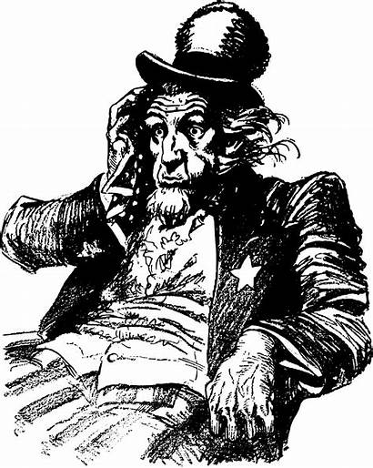Uncle Sam Tired Clipart Vector 1995 Domain