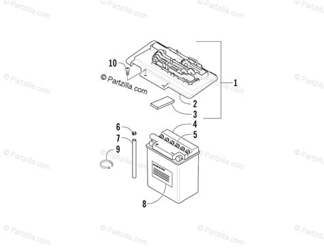 Arctic Cat Atv Oem Parts Diagram For Battery Assembly