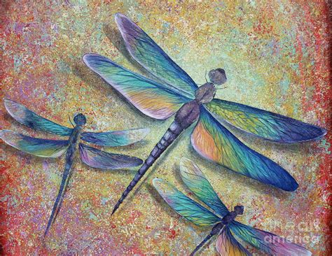 dragonflies painting by gabriela valencia