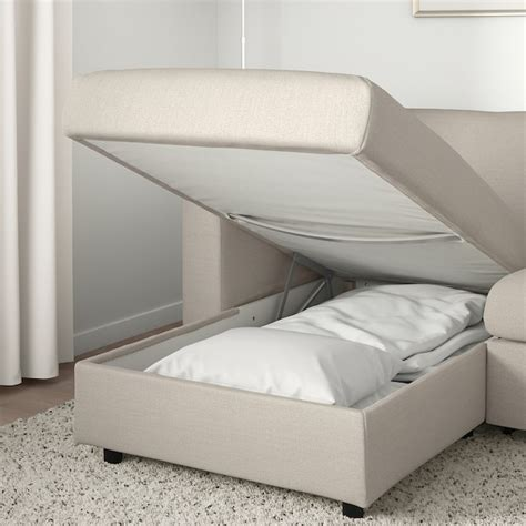 vimle  seat sofa bed  chaise longue gunnared beige