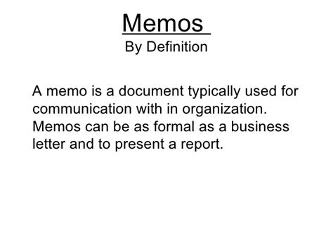 what is a business memo the business memos