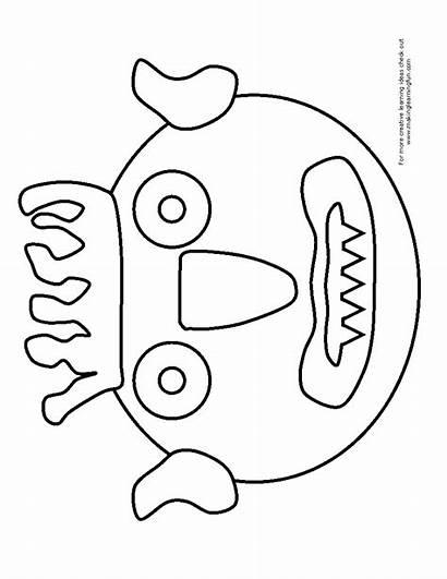 Coloring Monster Away Printable Preschool Activities Monsters