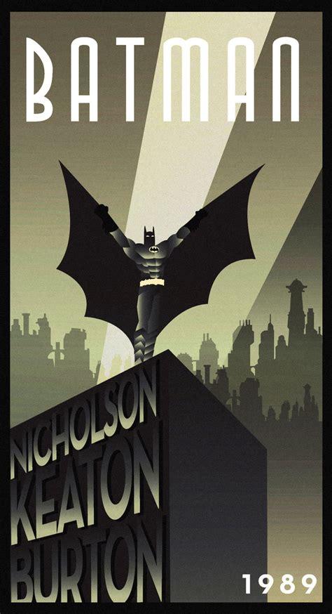 posters batman batman 1989 batman poster batman artdeco deco