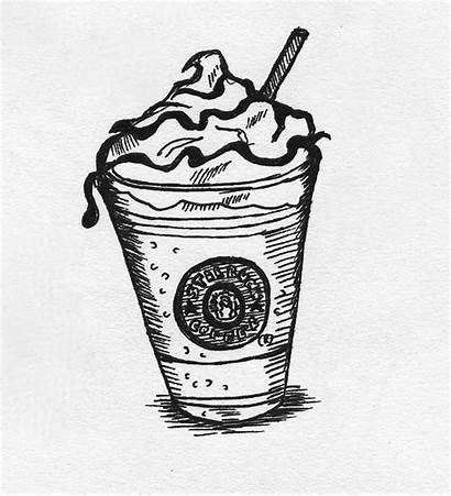 Starbucks Coloring Sketch Pages Drawing Cup Mmm