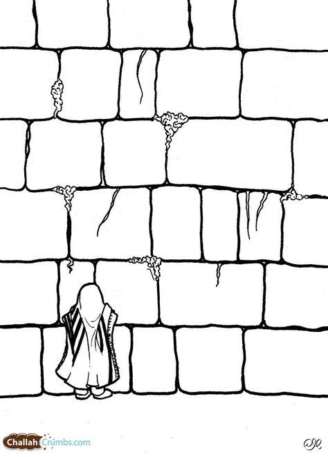 Coloring Wall by Western Wall Coloring Pages Sketch Coloring Page