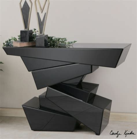 glass top dining room 7 modern black console tables furniture