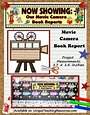 Movie Camera Book Report Project: templates, worksheets ...