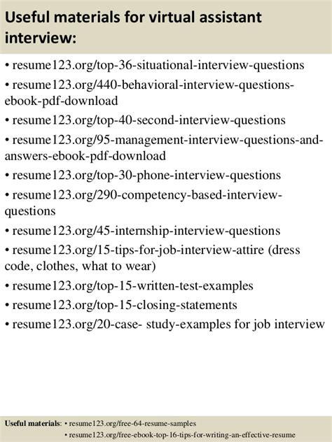 top  virtual assistant resume samples
