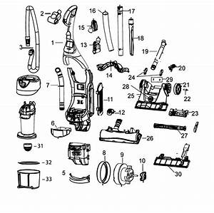 Main Assy Diagram  U0026 Parts List For Model 3910 Bissell