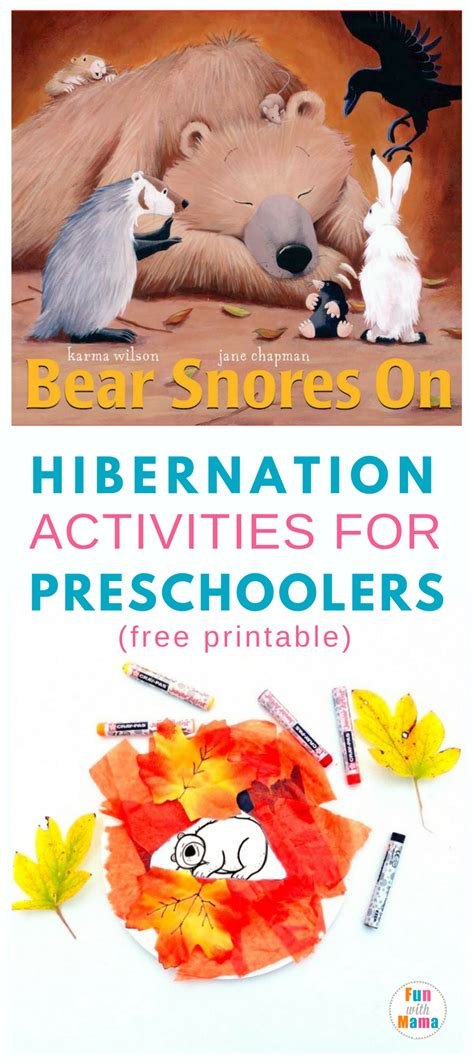 hibernation activities for preschoolers with 157 | hibernation activities pin