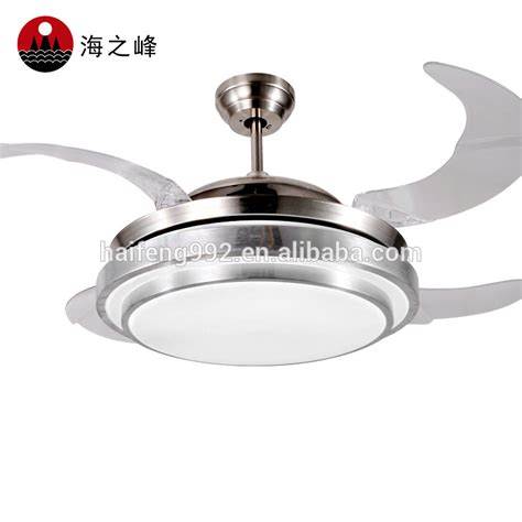 ceiling fans with hidden blades 56w led light ceiling fan with hidden acrylic blades buy