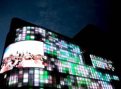Facade Led Facades Singapore Office Interactive Building