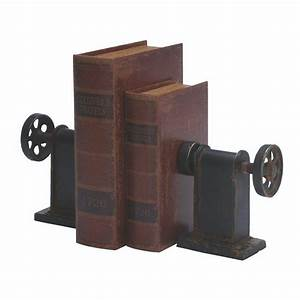 Home Decorators Collection Industrial Rustic Black Bookend