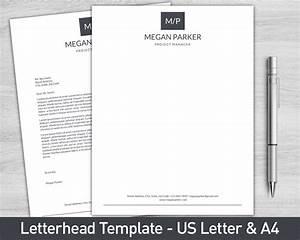Personal Letterhead Format Letterhead Template For Word Personalized Letterhead