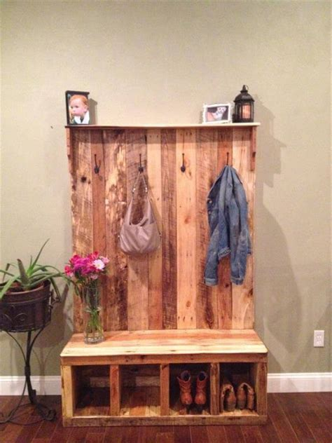 pallet entryway bench storage bench  pallets