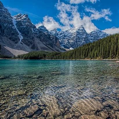 Louise Lake Mountains Canada Ipad Parallax