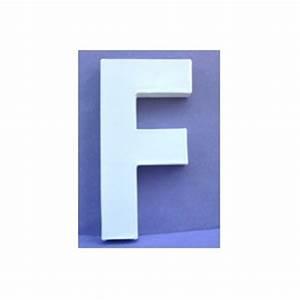 Lettre En Carton À Peindre : lettre 3d f en carton 20cm maison pratic boutique pour vos loisirs creatifs et votre deco ~ Nature-et-papiers.com Idées de Décoration