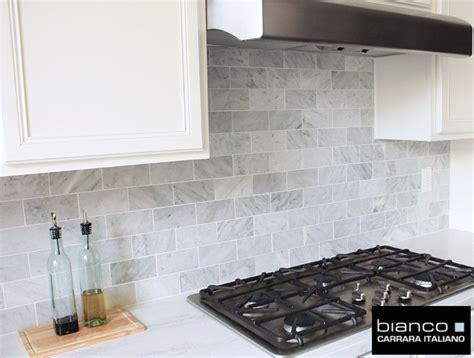 Marble Tile Kitchen Backsplash by Carrara Bianco 3 215 6 Kitchen Backsplash Home Kitchen