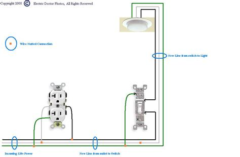 light switch with outlet receptacle wiring diagram power switch box wiring