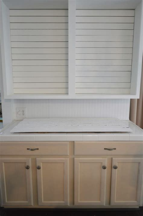 open kitchen cabinets simple shiplap how to diy a planked wall with no nails 1203
