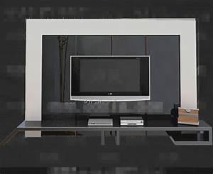 Modernes Silber Einzigartige TV Schrank 3D Model Download