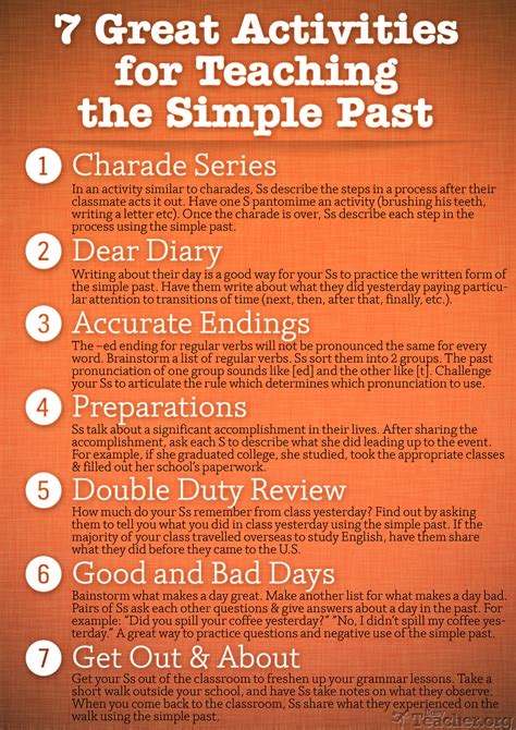 great activities  teach  simple  poster