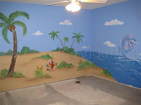 Kinderzimmer Wandgestaltung Pirat by Nursery Island Mural By Angela Artwork By