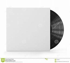 Vinyl Record With Blank Cover Stock Illustration ...