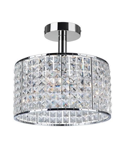Crystal Ceiling Light For Bathrooms