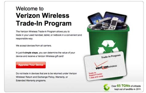 verizon phone trade in verizon offers credit for smartphones and tablets but