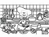 Coloring Cooking Pages Utensils Printable Getcolorings Getdrawings sketch template