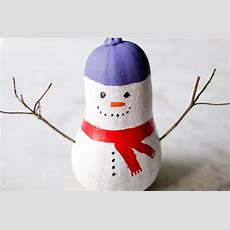 How To Make A Gourd Snowman 12 Steps (with Pictures