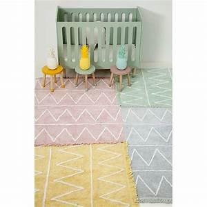 tapis lavable hippy vert coton avec franges chambre bebe With tapis chambre enfant avec entretien canapé tissu