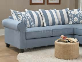 Light Blue Leather Sectional Sofa