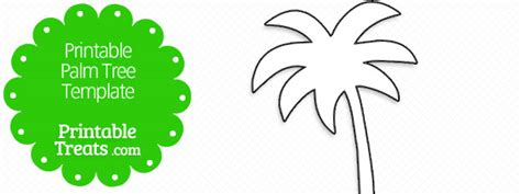 palm tree template printable palm tree template printable treats