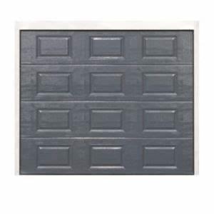Porte De Garage Gris Anthracite : porte de garage sectionnelle cassettes dublin grise x cm castorama ~ Melissatoandfro.com Idées de Décoration
