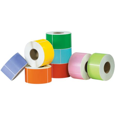 color labels colored thermal transfer labels