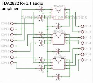 Tda2822 Made For 5 1 Audio Amplifier System In 2019