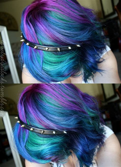 Purple Blue Mixed Dyed Hair Vanity Pinterest My Hair