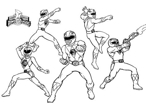 Coloring Power Ranger Coloring Pages And Power Ranger