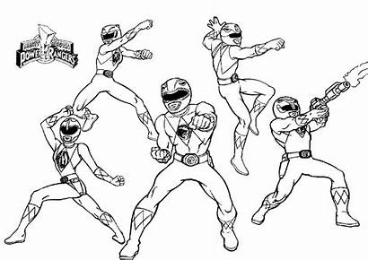 Rangers Coloring Power Pages Ranger Mighty Morphin