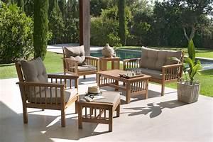 Salon De Jardin Acacia : ides de salon de jardin bois carrefour galerie dimages ~ Teatrodelosmanantiales.com Idées de Décoration
