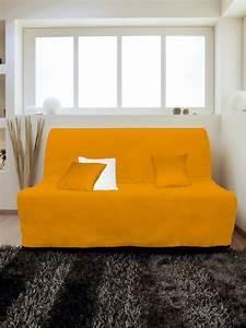 Housse Pour Bz : housse pour canap bz adaptable couleur orange pas cher ~ Teatrodelosmanantiales.com Idées de Décoration