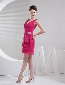 robe demoiselle d39honneur a ligne fuchsia en satin mat et With robe demoiselle d honneur fushia