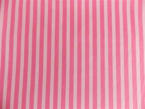 Pink With White Stripe 100% Cotton Fabric