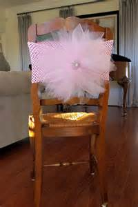 tulle chair sash choosing a baby shower chair baby ideas