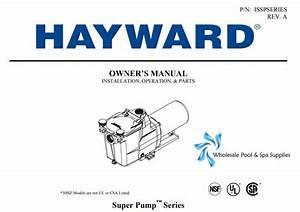 Hayward Super Pump Series Manual